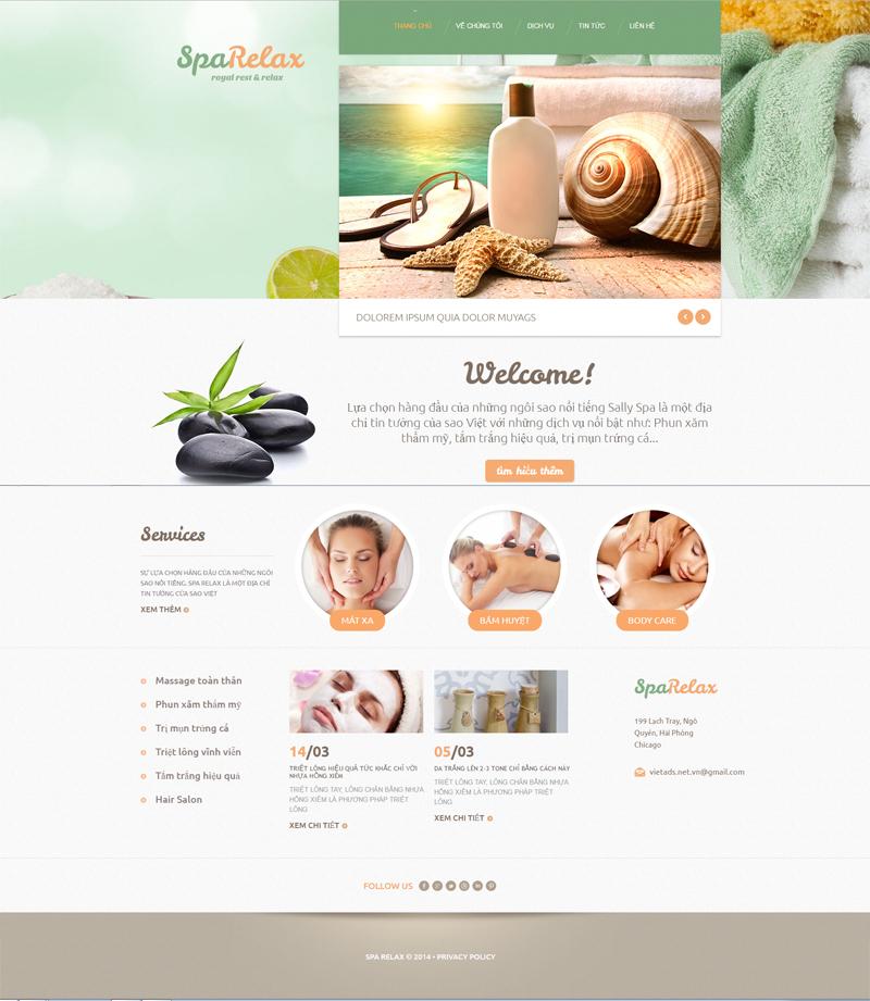 thiết kế website spa, làm đẹp